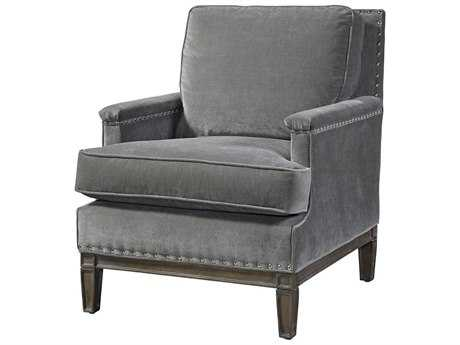 Universal Furniture Curated Grey Cloud Prescott Accent Chair
