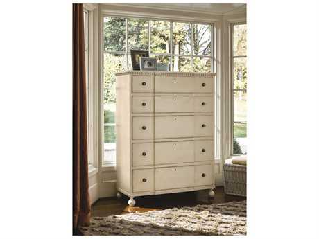 Universal Furniture Sojourn 44''W x 19''D Rectangular Summer White Chest of Drawers