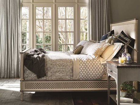 Universal Furniture Sojourn Summer White King Size Panel Bed