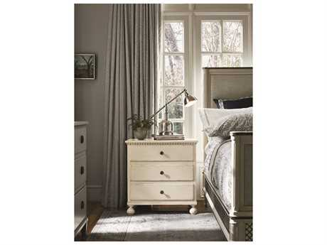 Universal Furniture Sojourn 29''W x 18''D Rectangular Summer White Nightstand