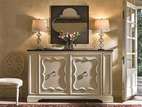 Universal Furniture Sojourn Serving Credenza with Wall Mirror Set