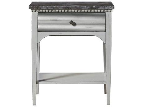 Universal Furniture Sojourn 26''W x 18''D Rectangular Grey Lake Nightstand