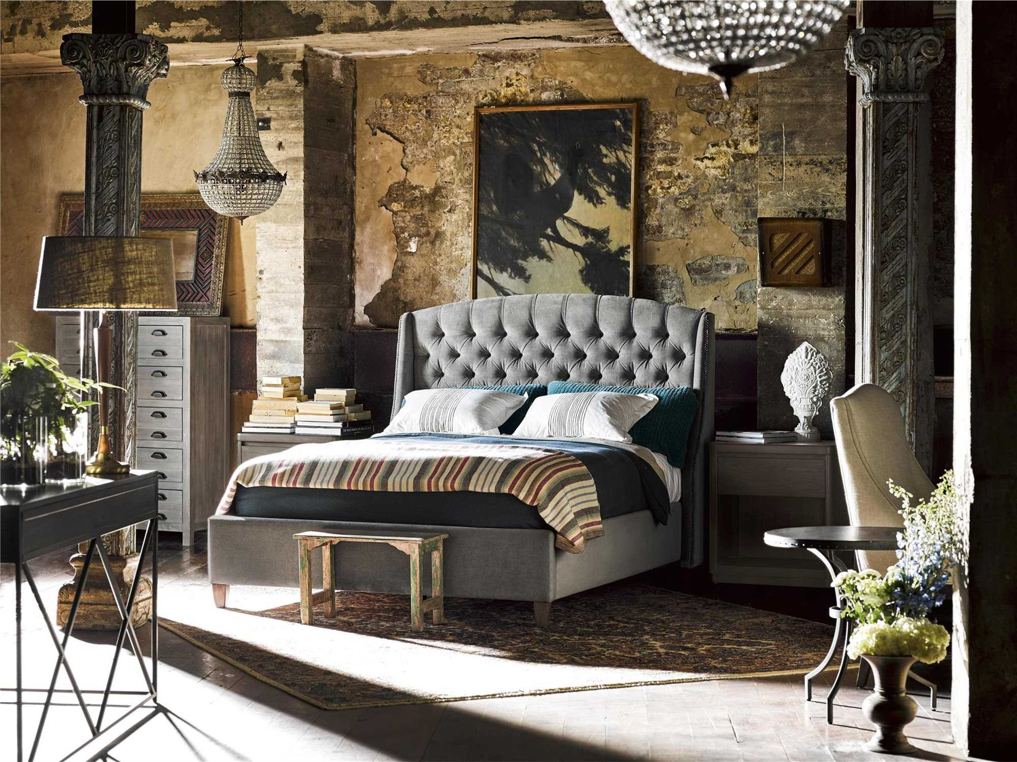 universal furniture curated 56 39 39 l x 28 39 39 w rectangular greystone pembroke computer desk uf558813. Black Bedroom Furniture Sets. Home Design Ideas
