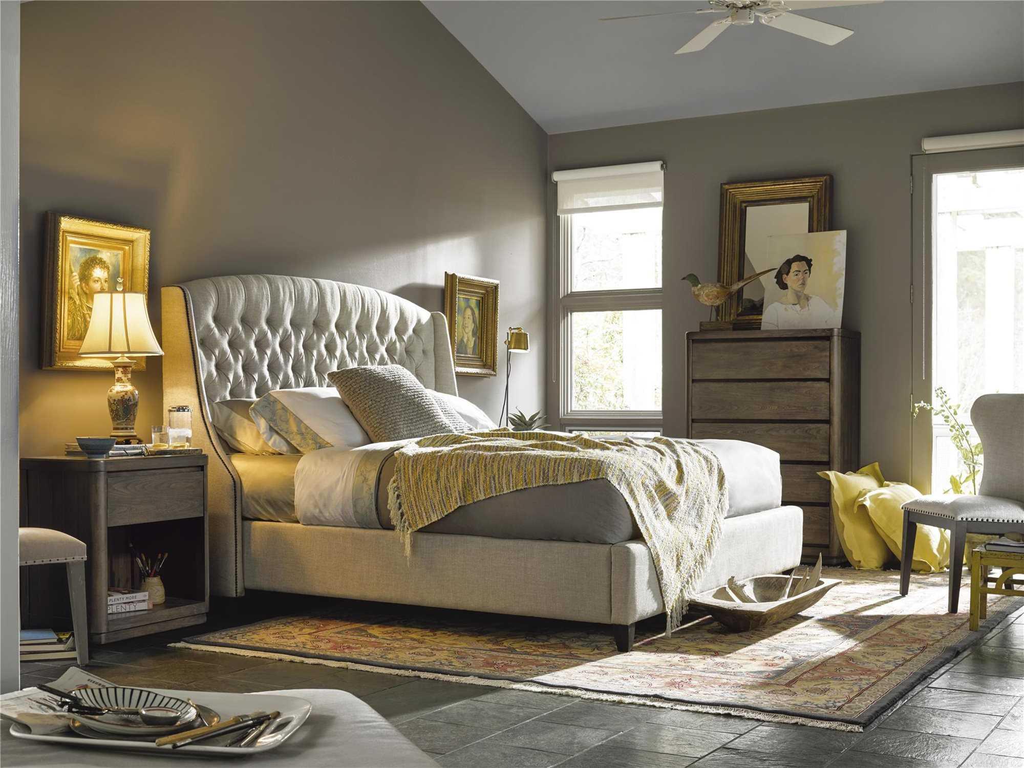 Universal Furniture Curated Belgian Linen Bedroom Set Uf552250bset