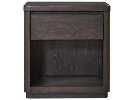 Universal Furniture Curated 26''W x 17''D Rectangular Graphite Roxbury Nightstand