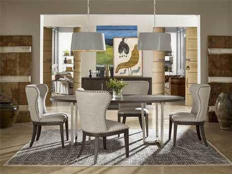Universal furniture curated graphite baldwin dining side for Top rated dining room tables