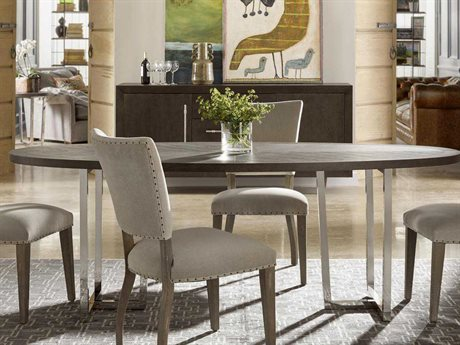 Universal Furniture Curated 86''L x 40''W Oval Brownstone Brighton Dining Table