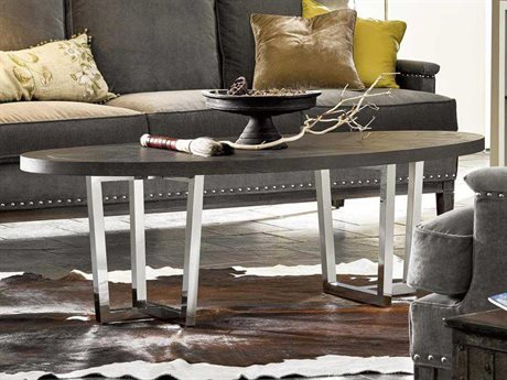 Universal Furniture Curated 50''L x 28''W Oval Brownstone Dorchester Cocktail Table