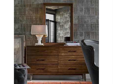 Universal Furniture Curated Townhouse Newbury Double Drawer Dresser with Mirror Set