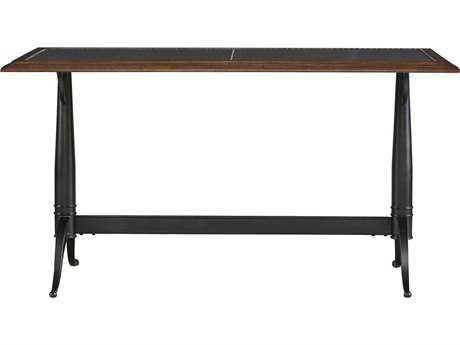 Universal Furniture Curated 56''L x 28''W Rectangular Bistro wood & Workbench metal Dining Table