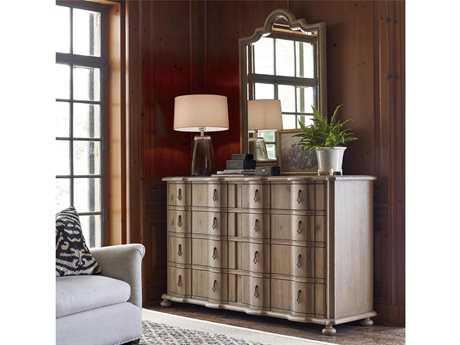 Universal Furniture Authenticity Khaki Double Drawer Dresser & Mirror Set