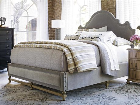 Universal Furniture Authenticity Grey Cloud Lyon Queen Size Panel Bed