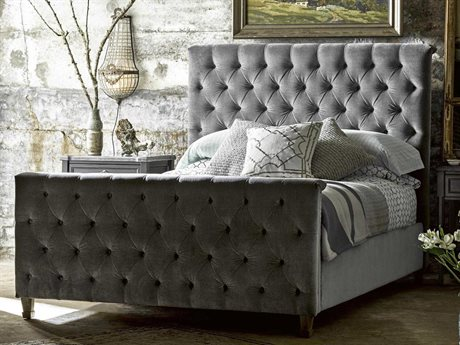 Universal Furniture Authenticity Grey Cloud Franklin Street Queen Size Panel Bed