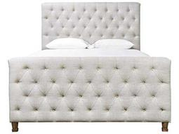 Universal Furniture Authenticity Belgian Linen Franklin Street Queen Size Panel Bed