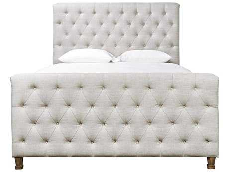 Universal Furniture Authenticity Belgian Linen Franklin Street King Size Panel Bed