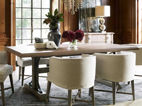 Universal Furniture Authenticity 81''L x 42''W Rectangular Khaki Oxford Street Dining Table