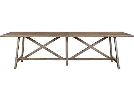Universal Furniture Authenticity 114''L x 34''W Rectangular Khaki Reunion Dining Table