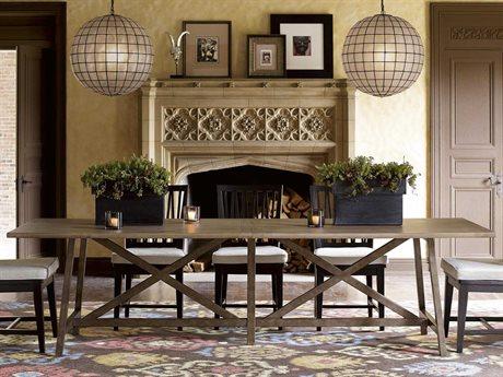 Universal Furniture Authenticity 114''L x 34''W Rectangular Khaki Reunion Dining Table