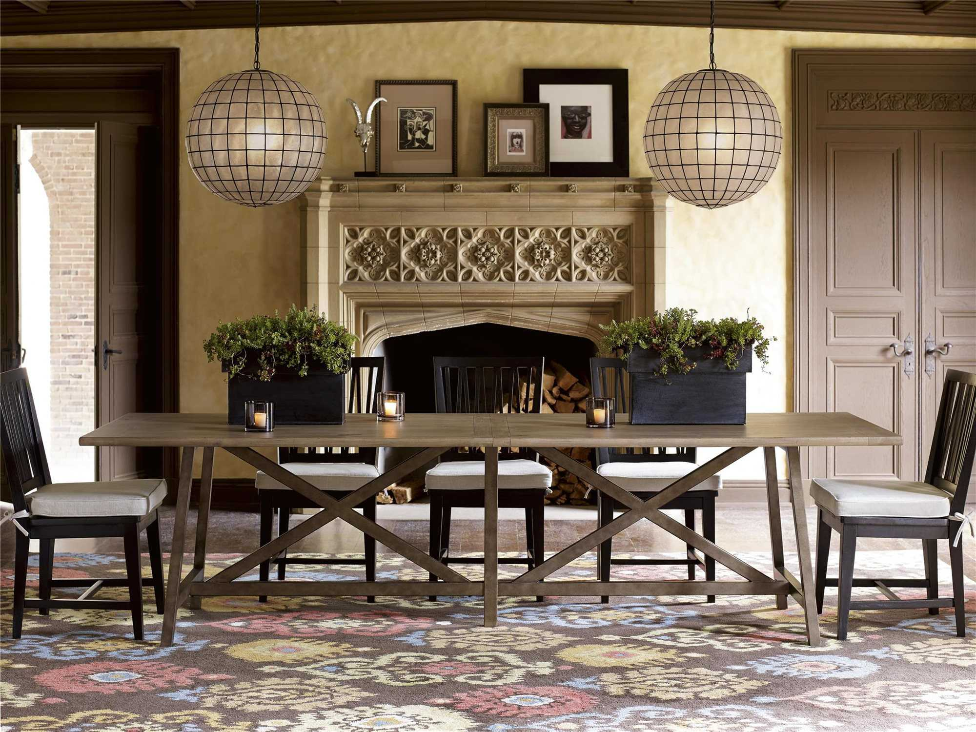 Universal furniture authenticity reunion dining set uf572656set2 - Universal furniture dining room set ...