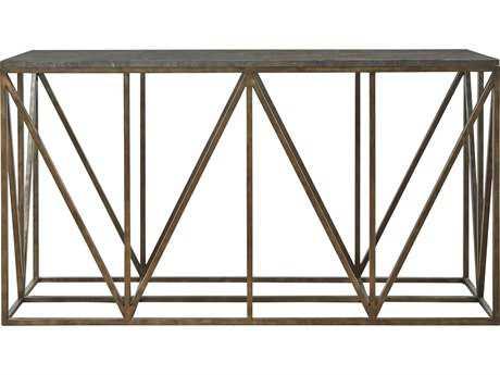 Universal Furniture Authenticity 60''L x 18'' Rectangular Khaki Truss Console Table