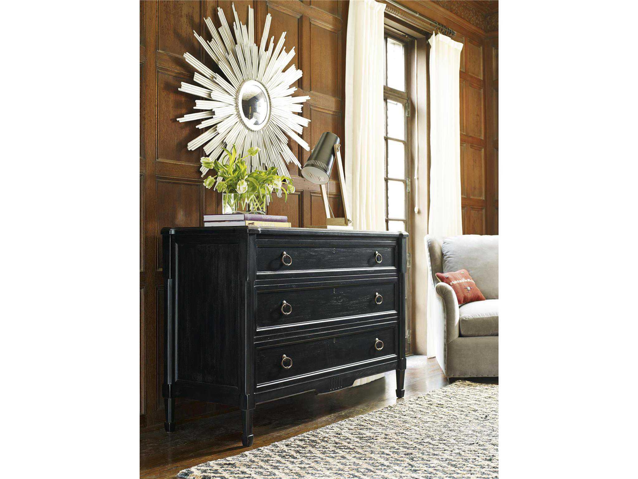 Universal Furniture Authenticity Black Denim Single Drawer