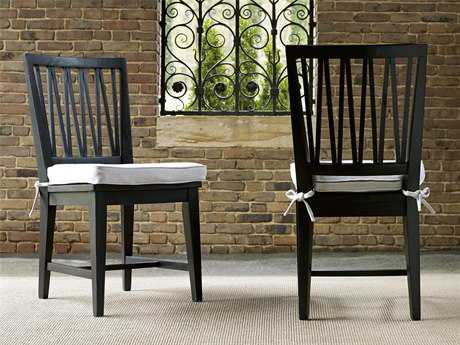 Universal Furniture Authenticity Black Denim Dining Side Chair