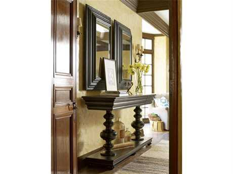 Universal Furniture Authenticity Console Table & Mirror Set