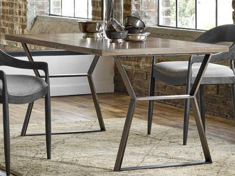 Universal Furniture Curated Mango Pango with Brushed Bronze 64''L x 36''W Rectangular Ainsley Dining Table