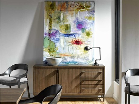 Universal Furniture Curated Mango Pango with brushed Bronze 64''L x 18''W Rectangular Lennox Credenza