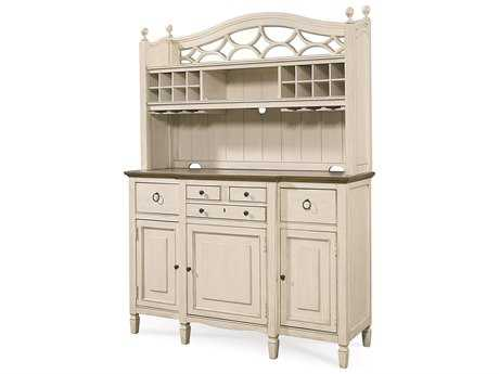 Universal Furniture Summer Hill 61''L x 21''W Cotton Buffet with Bar Hutch