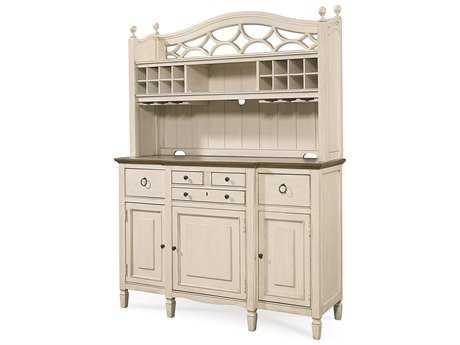 Universal Furniture Summer Hill 61''L x 21''W Cotton Buffet with Bar Hutch