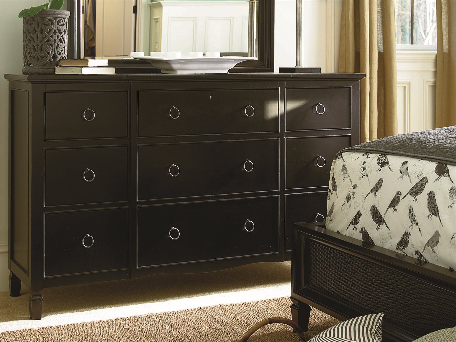 Universal Furniture Summer Hill Midnight Panel Bed Bedroom Set With Storage Uf988250sbset