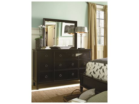 Universal Furniture Summer Hill Midnight Triple Dresser & Mirror Set