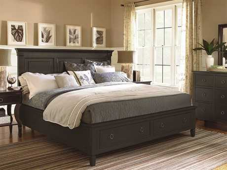 Universal Furniture Summer Hill Midnight Panel Bed Bedroom Set with Storage