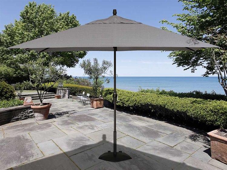 Treasure Garden Market Aluminum 8 X 11 Crank Lift Rectangular Umbrella