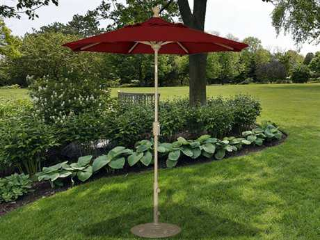 Treasure Garden Market Aluminum 6' Octagon Push Button Tilt Crank Lift Umbrella