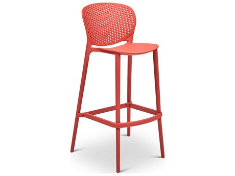 Urbia Outdoor Bailey Mild Orange Recycled Plastic Bar Stool (Sold in 4)