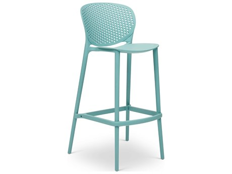Urbia Outdoor Bailey Surfin Blue Recycled Plastic Bar Stool (Sold in 4)
