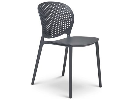 Urbia Outdoor Bailey Black Grey Recycled Plastic Dining Chair (Sold in 4)