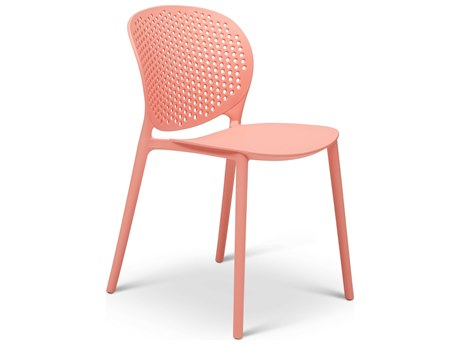 Urbia Outdoor Bailey Light Peach Recycled Plastic Dining Chair (Sold in 4)