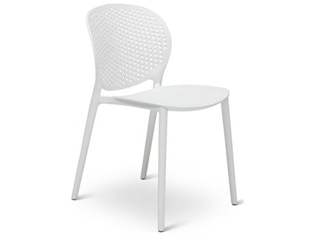 Urbia Outdoor Bailey White Recycled Plastic Dining Chair (Sold in 4)