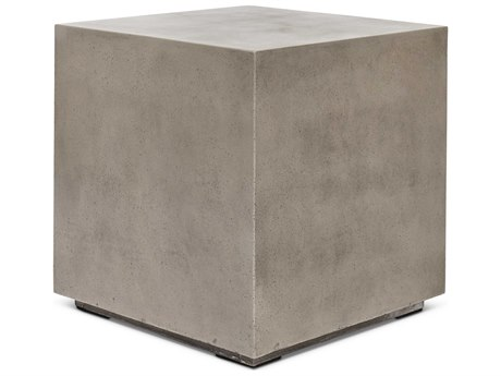Urbia Outdoor Bloc Dark Grey 21'' Wide Concrete Square End Table UROVGSBLOCET
