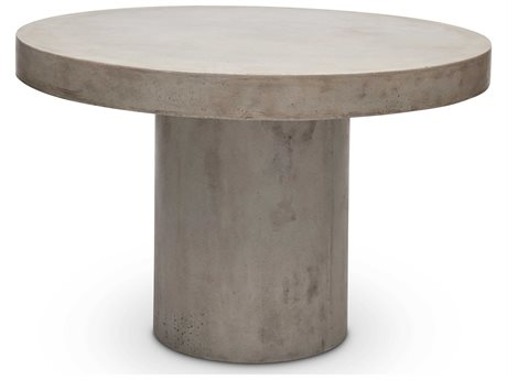 Urbia Outdoor Circa Dark Grey 47'' Wide Concrete Round Dining Table UROVGSCIRCADT4
