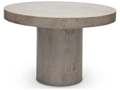 Urbia Outdoor Circa Dark Grey 60'' Wide Concrete Round Dining Table UROVGSCIRCADT5