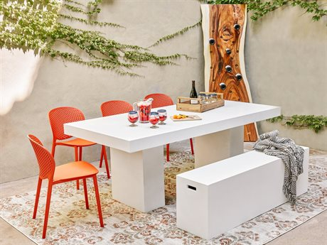 Urbia Outdoor Elcor Concrete Dining Set UROVGSELCOR7WSET