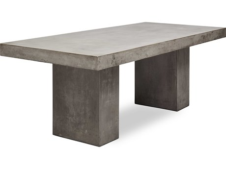 Elcor Dark Grey 95'' Wide Concrete Rectangular Dining Table
