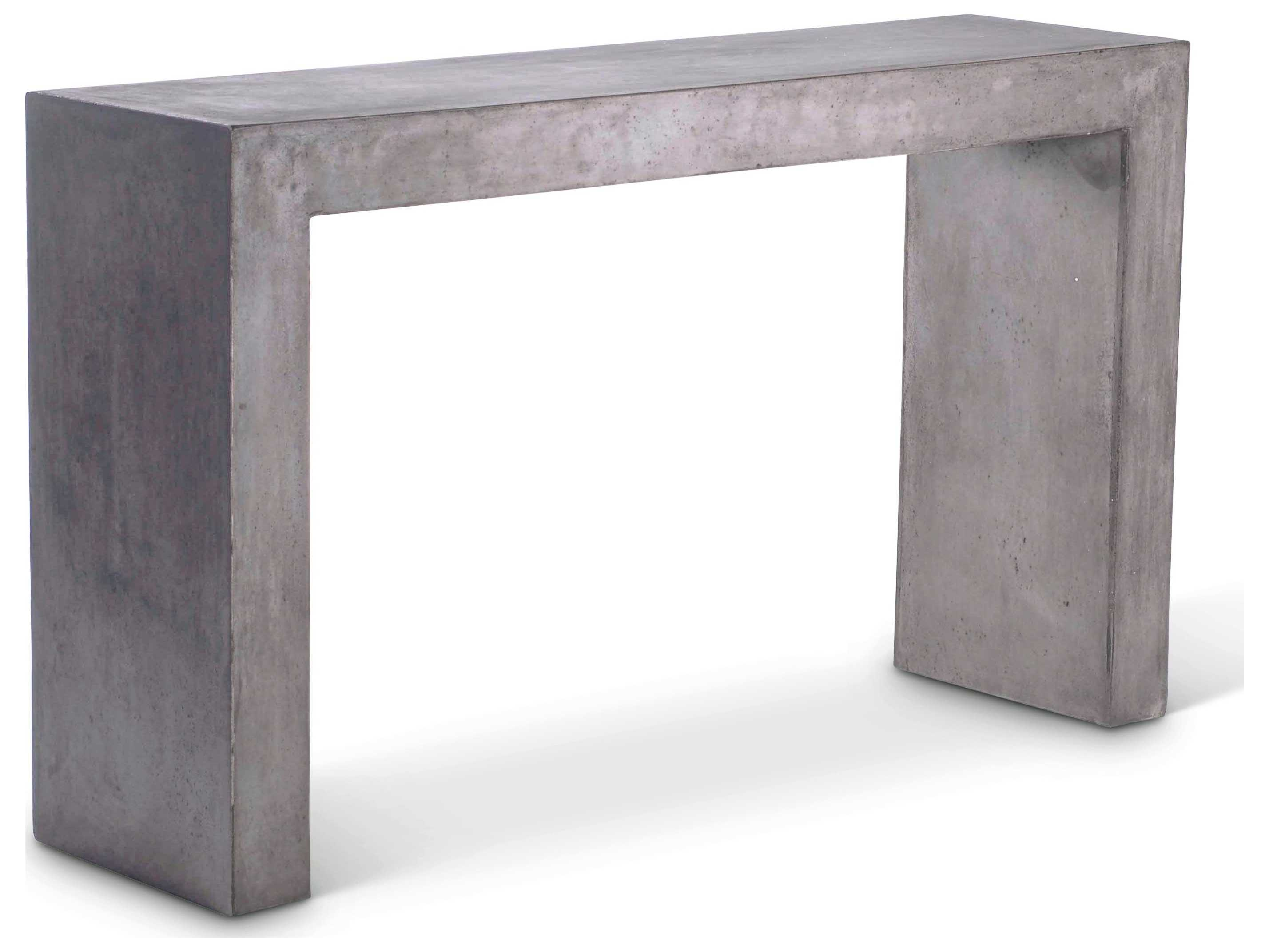 Picture of: Urbia Outdoor You Dark Grey 55 Wide Concrete Rectangular Console Table Vgs You Console