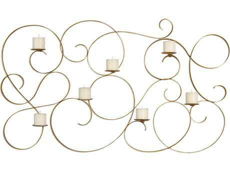 Uttermost Grace Feyock Seven Candle Antique Gold Wall Sconce
