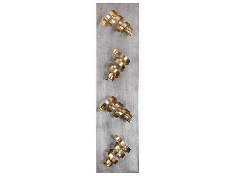 Uttermost Corkscrews Gold Leaf Over Wall Wine Rack