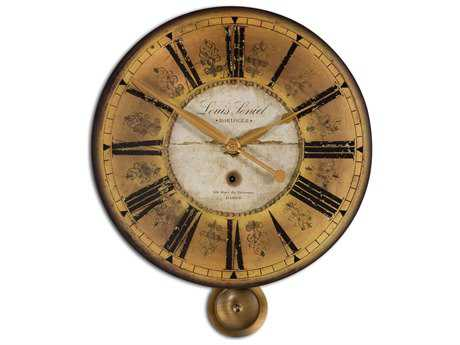Uttermost Louis Leniel Cream & Gold Wall Clock